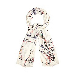 Red Herring - Off white blossom print scarf