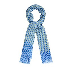 Red Herring - Blue two tone hearts scarf