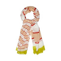 Red Herring - Pink candy striped scarf
