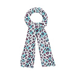 Red Herring - Green oversized leopard scarf