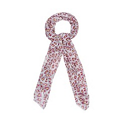 Red Herring - Grey oversized leopard scarf