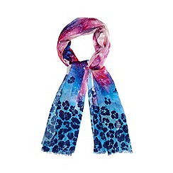 Red Herring - Blue galaxy print scarf