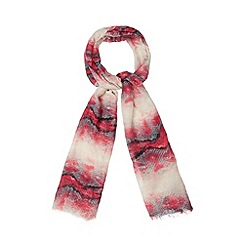Red Herring - Dark pink snakeskin striped scarf
