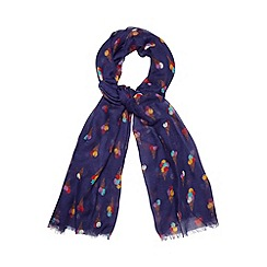 Red Herring - Navy ice cream print scarf