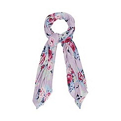 Red Herring - Purple floral print scarf
