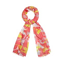 Red Herring - Pink abstract camo print scarf