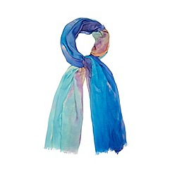 Red Herring - Blue sunset ombre scarf