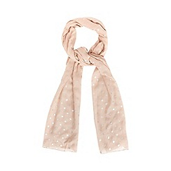 Red Herring - Pale pink spotted scarf
