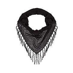 Red Herring - Black tassel scarf