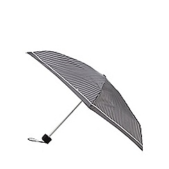 Fulton - Black small pin striped wind resistant frame umbrella