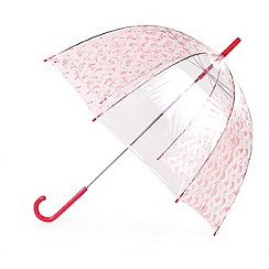 Isotoner - Dome pink flamingo umbrella