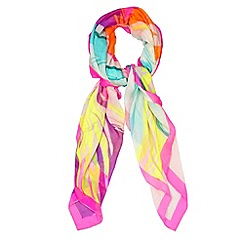 H! by Henry Holland - Designer pink neon marble scarf