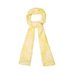 H! by Henry Holland - Designer yellow pineapple print scarf