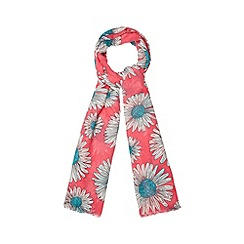 H! by Henry Holland - Designer bright pink daisy print scarf