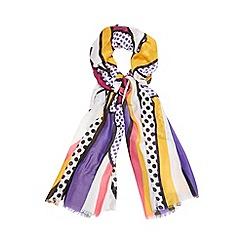 H! by Henry Holland - Designed purple polka dot scarf