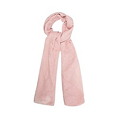 Red Herring - Pink metallic spot scarf