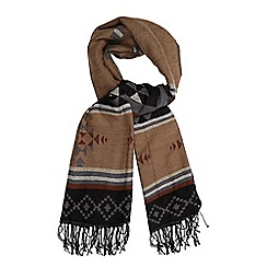 Red Herring - Black Aztec print scarf