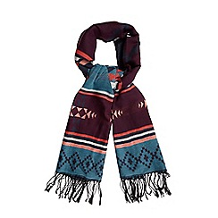 Red Herring - Multi Aztec print scarf