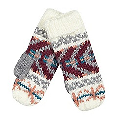 Red Herring - Multi knitted mittens