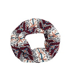 Red Herring - Multi knitted snood