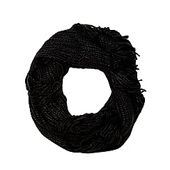 Red Herring - Black fringed snood