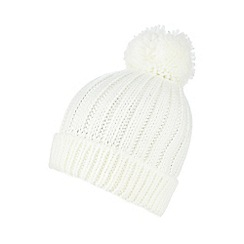 Red Herring - Ivory oversized pom-pom hat