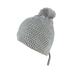 Red Herring - Grey faux fur pom-pom hat