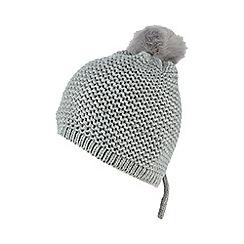 Red Herring - Grey faux fur pom-pom hat