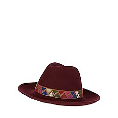 Red Herring - Dark red aztec band hat