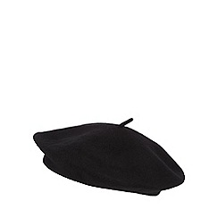 Red Herring - Black wool beret