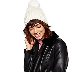 Red Herring - Cream sequin beanie hat