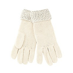 Red Herring - Cream sequin border gloves