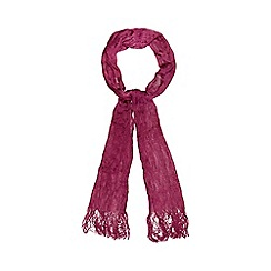 Red Herring - Dark pink skinny scarf
