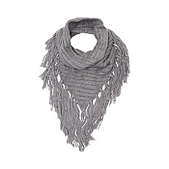 Red Herring - Grey chunky knit snood