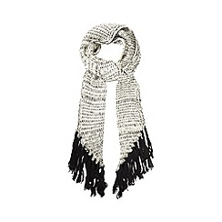 Red Herring - Black contrast knitted scarf