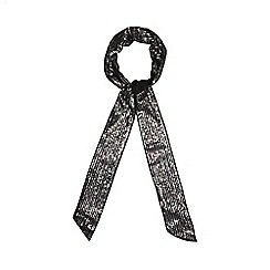 Red Herring - Black sequin skinny scarf