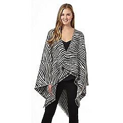 Red Herring - Black zebra print wrap