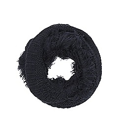 Nine by Savannah Miller - Navy blue 'Arlo' chunky knit snood