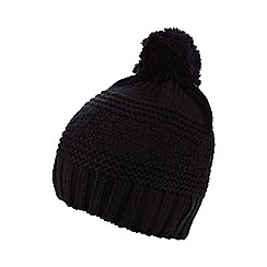 Nine by Savannah Miller - Navy blue 'Tania' knitted bobble hat