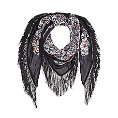 Nine by Savannah Miller - Black 'Angelo' printed scarf
