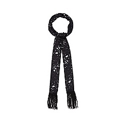 Nine by Savannah Miller - Black 'Lily' skinny star print scarf