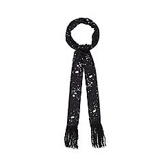 Nine by Savannah Miller - Black 'Lily' skinny star print scarf