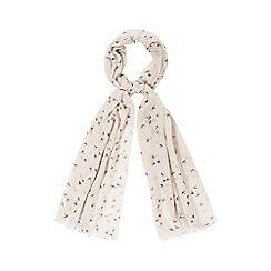 Nine by Savannah Miller - Pale pink 'Lee' bird print scarf