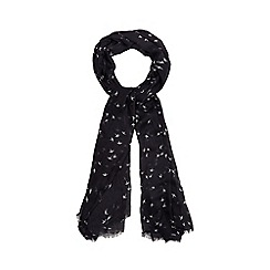 Nine by Savannah Miller - Navy blue 'Lee' bird print scarf