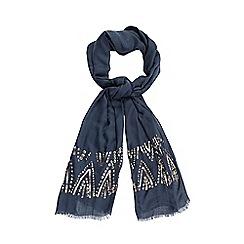 Nine by Savannah Miller - Grey 'Jill' sequin embellished scarf