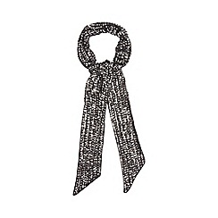 Nine by Savannah Miller - Black 'Amanda' skinny sequinned scarf