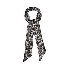 Nine by Savannah Miller - Black 'Amanda' skinny sequinned scarf