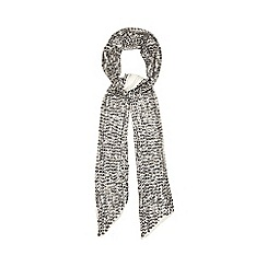 Nine by Savannah Miller - Taupe 'Amanda' skinny sequinned scarf