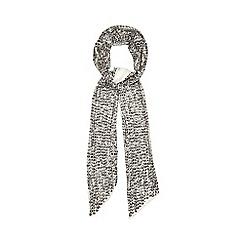 Nine by Savannah Miller - Taupe 'Amanda' skinny sequinned scarf