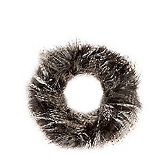 Nine by Savannah Miller - Black 'Rose' faux fur snood
